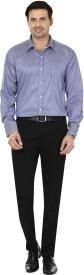 Mafatlal Men's Striped Formal Blue, White Shirt