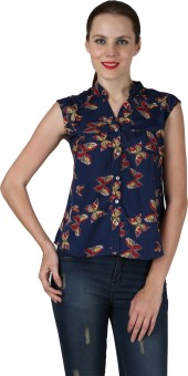 Advika Cool Summer Butterfly Women's Floral Print Casual Shirt - SHTE68FGC5UYWQJG