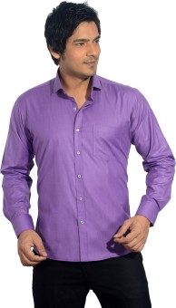 Baaamboos Plain Cotton Men's Solid Formal Shirt