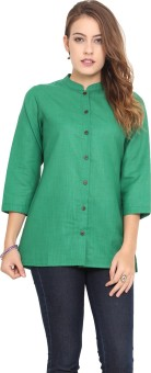 Titch Button Women's Solid Casual Shirt