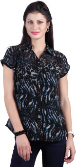 Haute Curry By Shoppers Stop Women's Printed, Woven Casual Shirt
