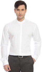 Park Avenue Men's Solid Formal White Shirt