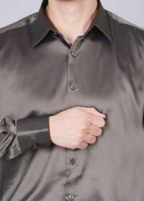 Genesis Genesis Men's Solid Party Shirt (Grey)