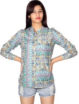 Silly People Abstract Women's Printed Casual Shirt - SHTE6EHUHMARFSHM
