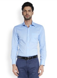 Raymond Men's Solid Formal Dark Blue Shirt