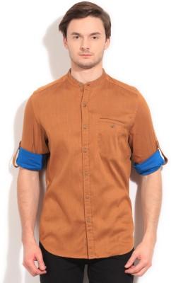 Bossini BOSSINI Men's Solid Casual Shirt (Yellow)