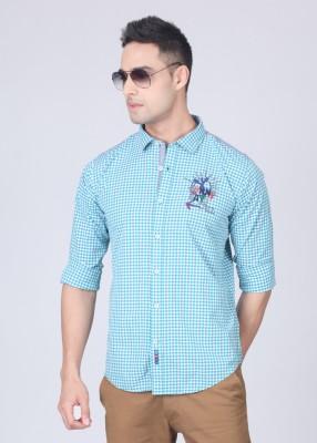 Probase Probase Men's Checkered Shirt (Green)