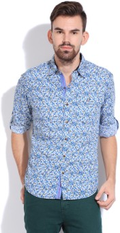 Mufti Men's Floral Print Casual Shirt