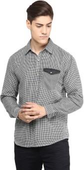 Yepme Men's Checkered Casual Black, White Shirt