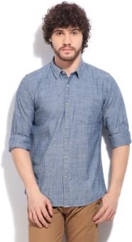 Flippd Men's Casual Blue Shirt