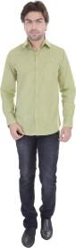 Dress.com Men's Solid Formal Green Shirt