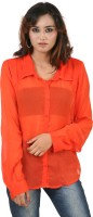 Hypernation Women's Solid Casual, Party Shirt - SHTEYQHGP57GB85F
