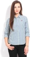 American Swan Women's Striped Casual Shirt