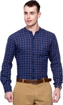Max Men's Checkered Casual Shirt