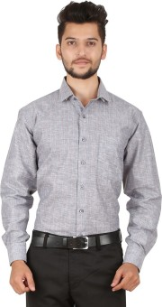 Stylo Shirt Men's Striped Formal Grey Shirt