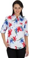 Hypernation Women's Floral Print Casual Shirt