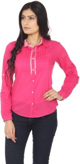 Eighteen4ever Pretty Pink Women's Solid Casual Shirt