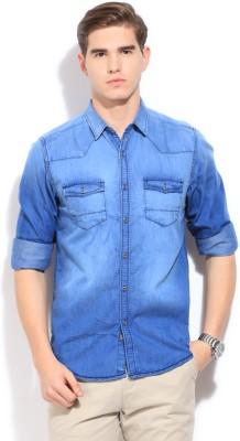 Bossini BOSSINI Men's Solid Casual Shirt (Indigo)