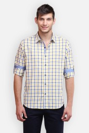 four one oh Men's Striped Formal Multicolor Shirt