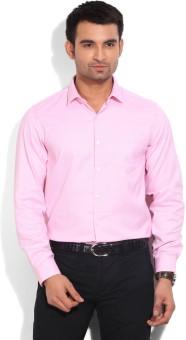 Mark Taylor Men's Self Design Formal White, Pink Shirt
