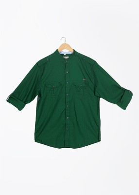 Mufti Mufti Men's Striped Casual Shirt (Green)
