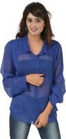 Hypernation Women's Solid Casual, Party Shirt - SHTEYQHFGQP59TSH