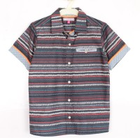 Nana Striped Shirt Navy Baby Boy's Striped Casual Shirt