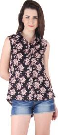 Ruhaan's Women's Floral Print Casual Shirt