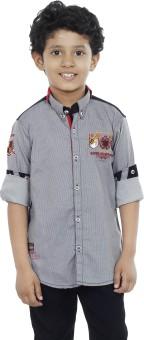 OKS Boys Boy's Striped Casual Shirt