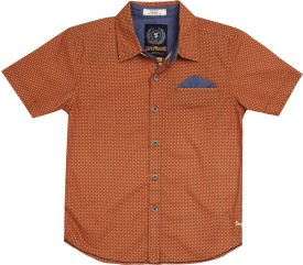 SuperYoung Boy's Printed Casual Shirt