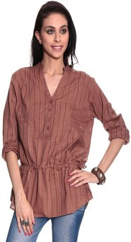 Remanika Fr-Kyra2 Women's Striped Casual Shirt