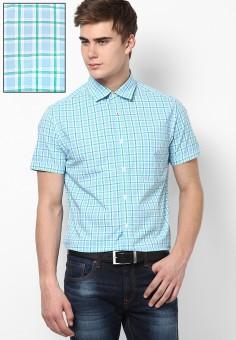 Byford By Pantaloons Men's Checkered Formal Shirt