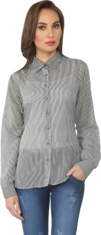 From The Ramp Women's Striped Casual Shirt