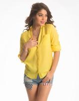 PrettySecrets Women's Solid Casual Shirt - SHTE2EMZNNJFY7CF