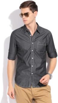 Status Quo Men's Solid Casual Shirt