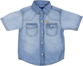 Addyvero Girl's Solid Party, Casual Light Blue Shirt