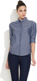 Alibi Everyday Chambray Women's Solid Casual Shirt