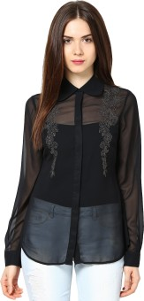 L'Elegantae Women's Solid Party Shirt