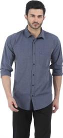 Basics Men's Solid Casual Grey Shirt