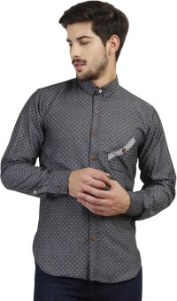 Marcello And Ferri Men's Geometric Print Casual Shirt