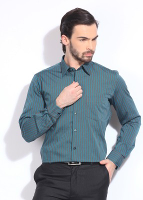 Genesis Genesis Men's Striped Formal Shirt (Multicolor)