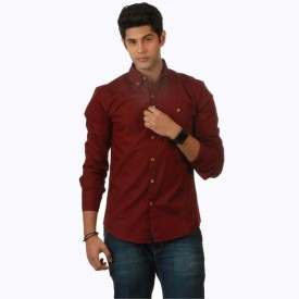 Nick & Jess Casual Men's Solid Casual Shirt
