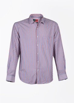 Peter England Men's Striped Formal Shirt