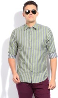 John Players Men's Striped Casual Shirt - SHTDYP4UTKGHZPNK
