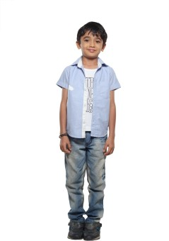 Stop To Start Boy's Solid Casual Shirt