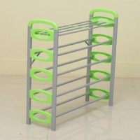 Nilkamal Sleek Carbon Steel Standard Shoe Rack (Green, 5 Shelves)