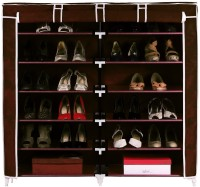 Pindia Aluminium, Polyester Standard Shoe Rack (Brown, 12 Shelves)