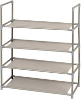 Pindia Polyester Standard Shoe Rack (Grey, 4 Shelves)