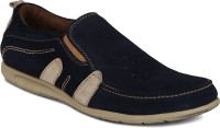 Kielz Men-Blue-Suede Leather Casual Shoes