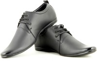 Faces By Devils Phelan Plain Black Lace Up Shoes